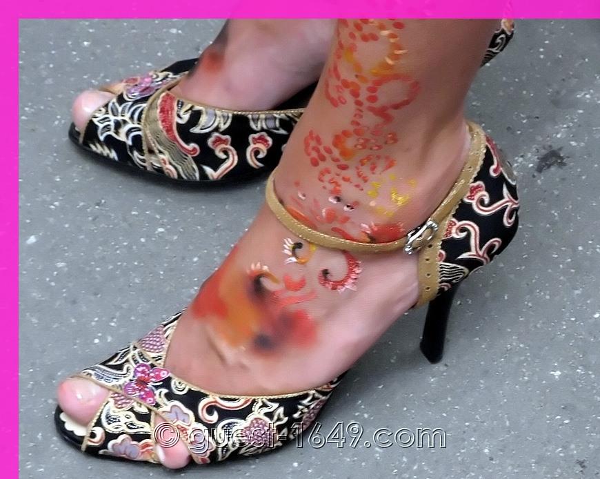 Colored Stilettos at Glamour Stiletto Run