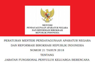 Permenpan RB Nomor 21 Tahun 2018 Tentang Jabatan Fungsional Penyuluh Keluarga Berencana (KB)