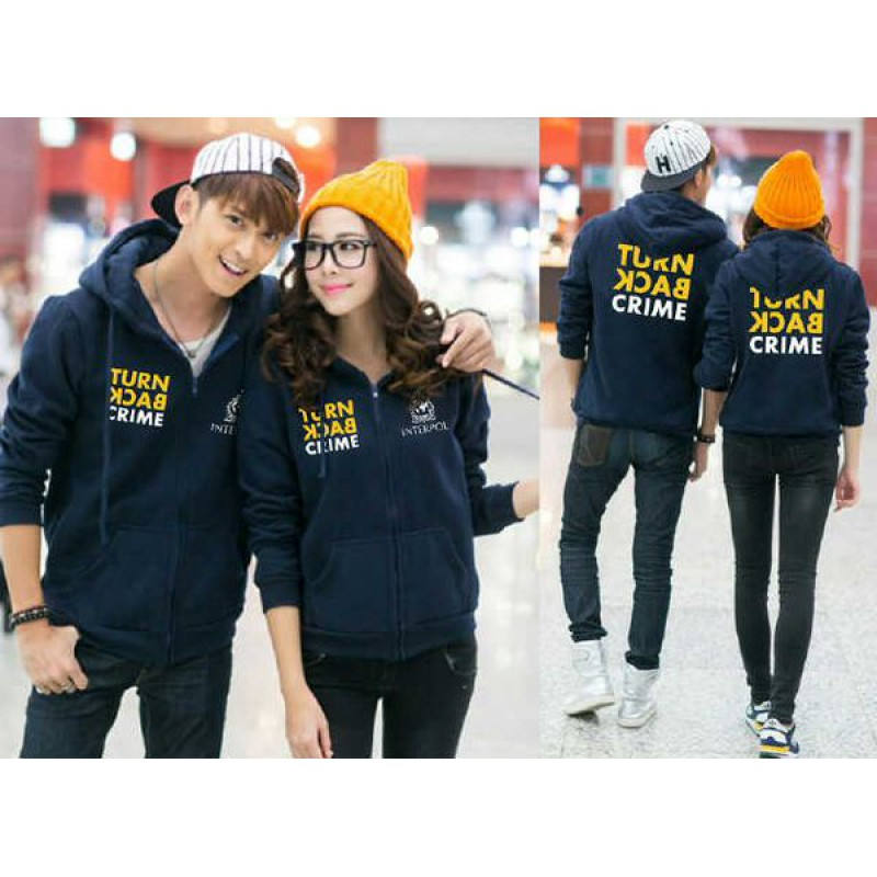 Jual Jacket Couple Jacket Couple Turn Back Crime Navy - 23998