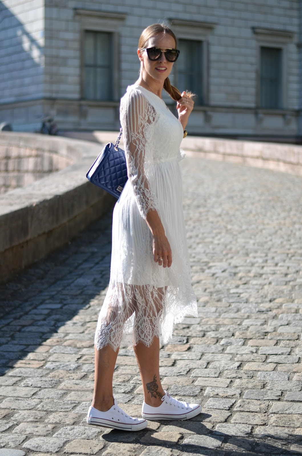 kristjaana mere white lace maxi dress summer outfit munich germany