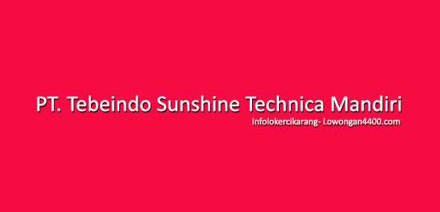 Lowongan Kerja PT. Tebeindo Sunshine Technica Mandiri Cikarang