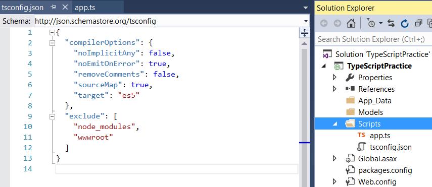 TypeScript Project in Visual Studio