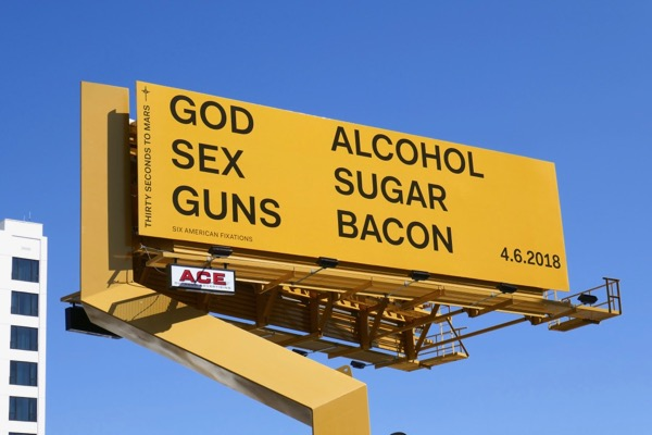 Thirty Seconds Mars God Alcohol Sex Sugar Guns Bacon billboard