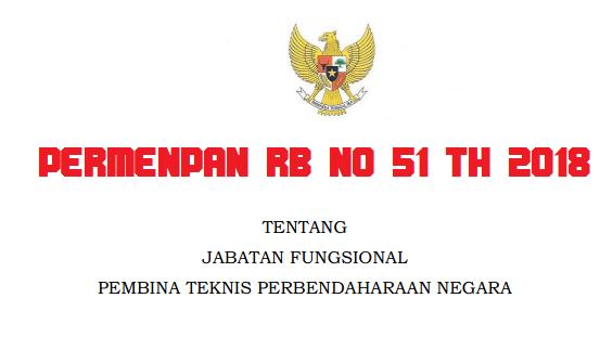 Permenpan ini diterbitkan dengan pertimbangan bahwa untuk pengembangan PERMENPAN RB / PERATURAN MENPAN RB NOMOR 51 TAHUN 2018 TENTANG JABATAN FUNGSIONAL  PEMBINA TEKNIS PERBENDAHARAAN NEGARA