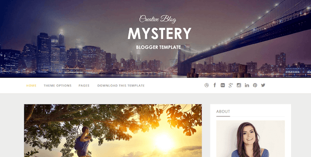 Mystery Blogger Template