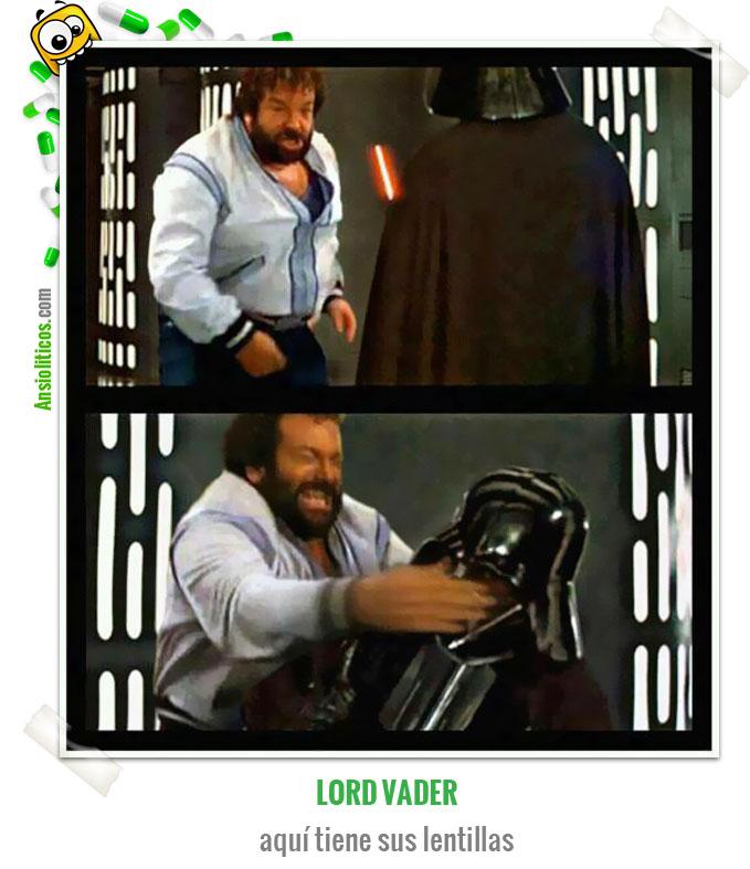 Chiste de Star Wars: Darth Vader vs Bud Spencer