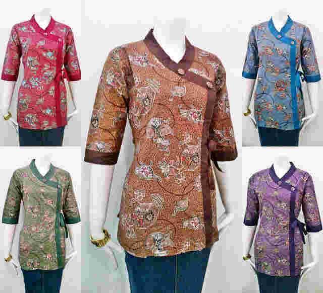 Model Baju Batik Untuk Kerja Terbaru 2015