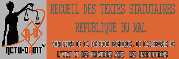 MINISTERE DE LA FONCTION PUBLIQUE, DE LA REFORME DE    L'ETAT ET DES RELATIONS AVEC  LES INSTITUTIONS