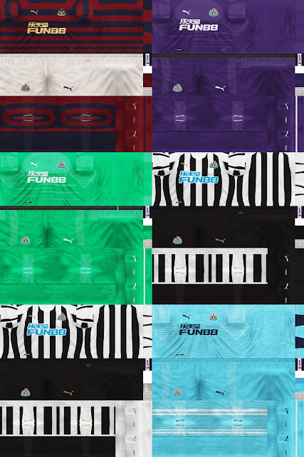 PES 6 Kits Newcastle United Season 2018/2019 by Dibu Edition