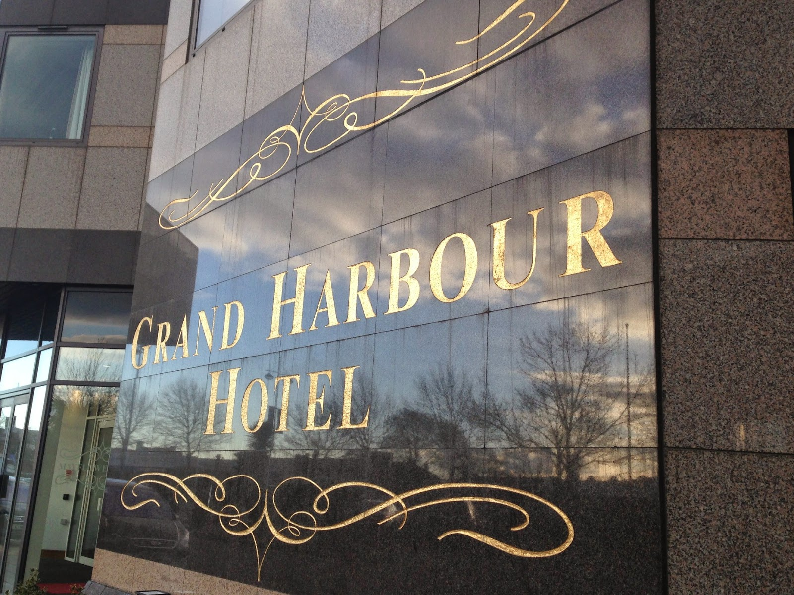 Grand Harbour Hotel sign