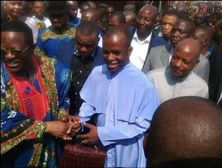 Dave Umahi With Fr. Mbaka