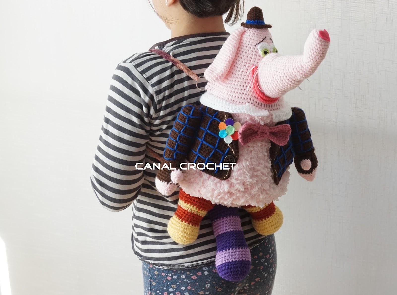 CANAL CROCHET: Mochila infantil elefante tutorial