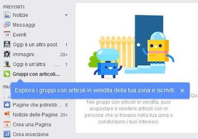 """Come usare i """"Gruppi con articoli in vendita vicino a te"""" su Facebook"""