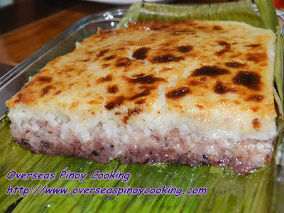 Baked Biko Sapin Sapin Style - Recipe