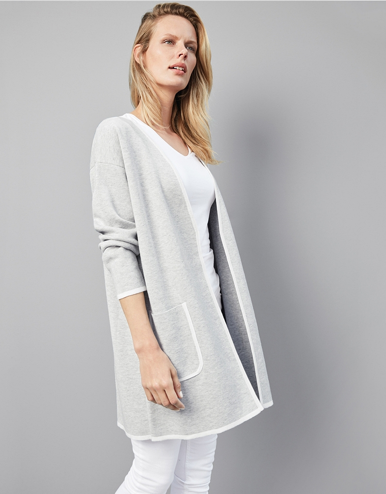 The White Company Wool-Cotton Coatigan