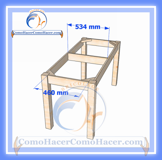 Plano de mesa de madera medidas web del bricolaje dise o diy - Madera a medida ...