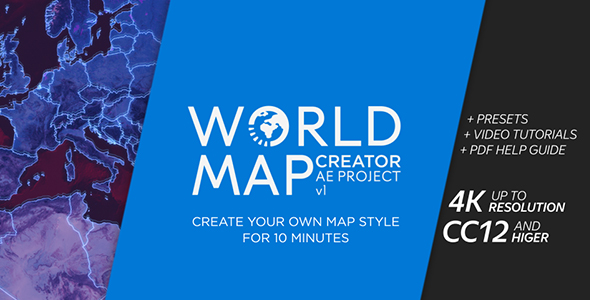 World map creator videohive free after effects templates gumiabroncs Gallery