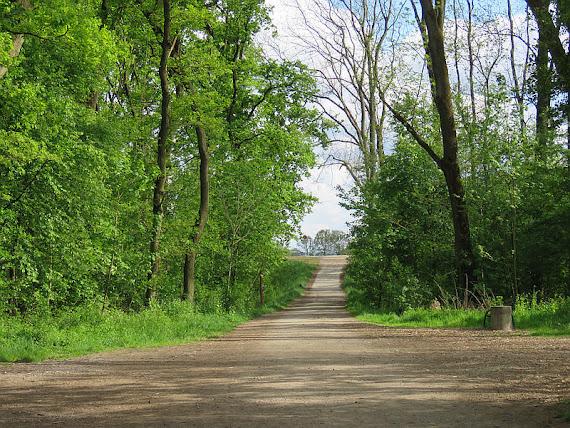 Droga na wał wiślany.