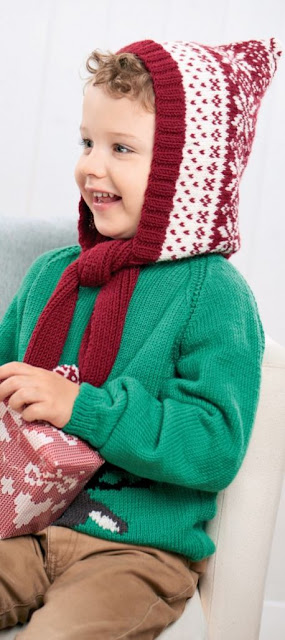 The Vintage Pattern Files: Free 1950s Style Knitting Pattern - Childs Fair Isle Hood