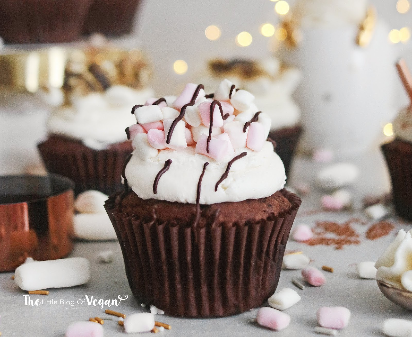Vegan hot chocolate cupcakes recipe