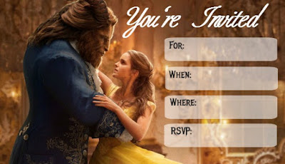 Beauty and the Beast 2017 invitations