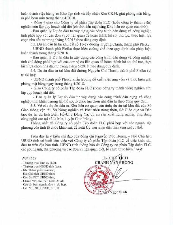 FLC đầu tư 6 dự án tại tỉnh Gia Lai