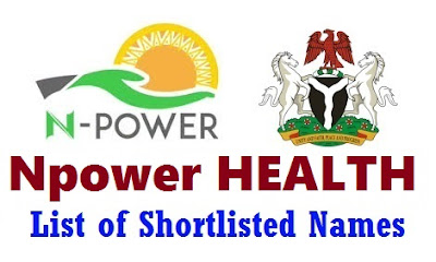 Npower Health Shortlisted Candidates Names 2017/18