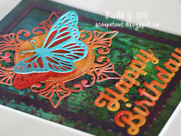 Handmade card, Birthday, Butterfly, Impression Obsession