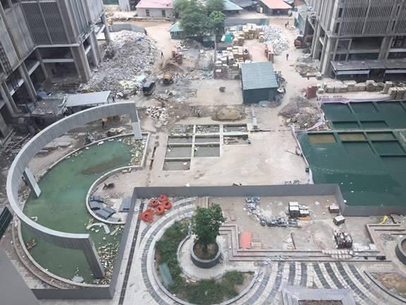 Khuôn viên dự án Eco green city đang được hoàn thiện