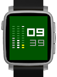 Minimalist watchface for Pebble - Stripemalism on Pebble Time 2