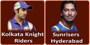 SRH Vs KKR is on 19 May 2013