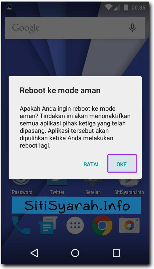 Safe Mode Android Kitkat dan Lollipop