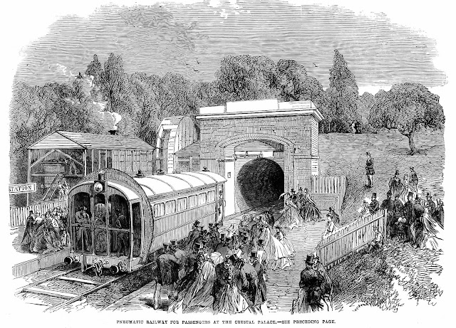 1864 Crystal Palace pneumatic railway