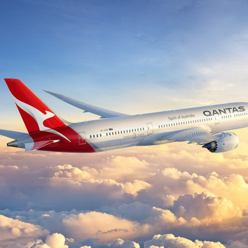 Tinuku Marc Newson redesigned Qantas brand logo kangaroo icon and wordmark for Boeing 787 Dreamliner