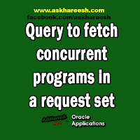 Query to fetch concurrent programs in a request set, www.askhareesh.com