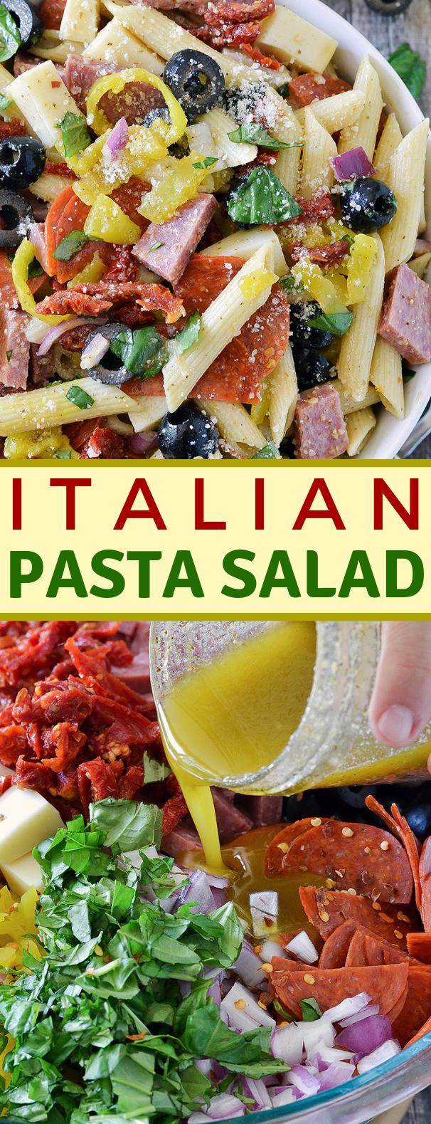 ITALIAN PASTA SALAD #vegetarian #gardensalad