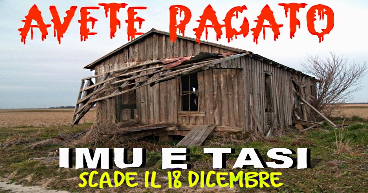In Scadenza Il Saldo Del 2017 Di IMU E TASI