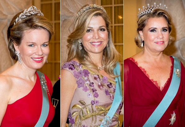 Queen Mathilde, Queen Maxima- Duchess Maria Teresa