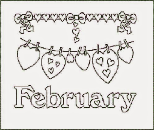 february coloring sheets free coloring sheet