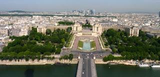 París desde la segunda planta de la Torre Eiffel.