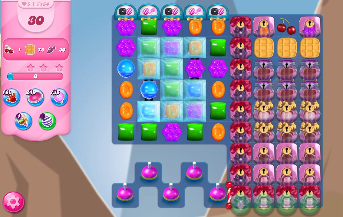 Candy Crush Saga level 7154