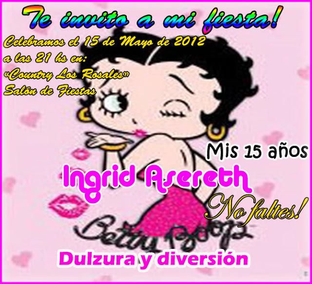 Tarjetas De Invitación De Betty Boop Imagui