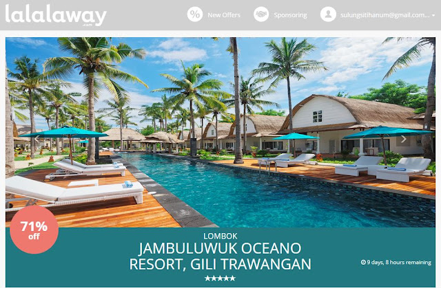 Situs booking hotel berbintang lalalaway. Source: lalalaway.com