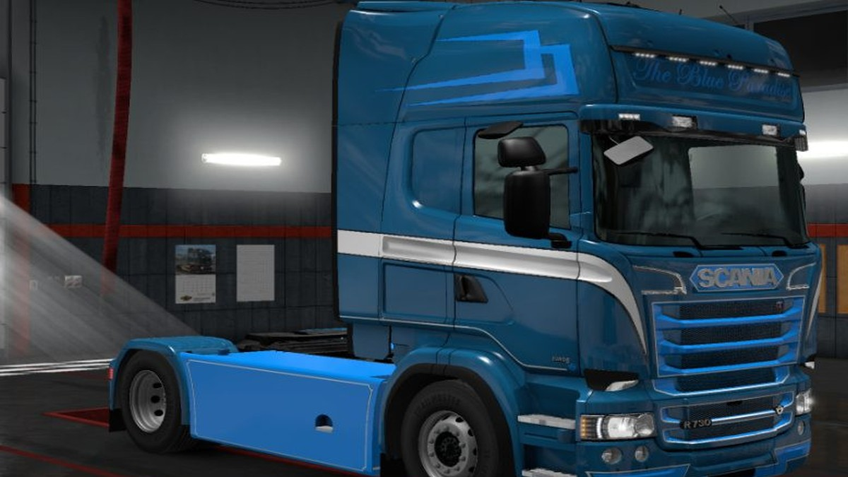 The Blue Paradise Skin for Scania RJL