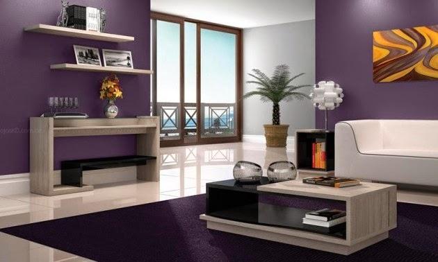 Salas en color morado   ideas de salas con estilo