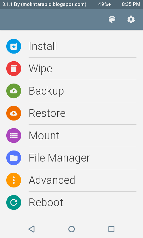 TWRP + CYANOGENMOD Recovery for Lenovo A1000