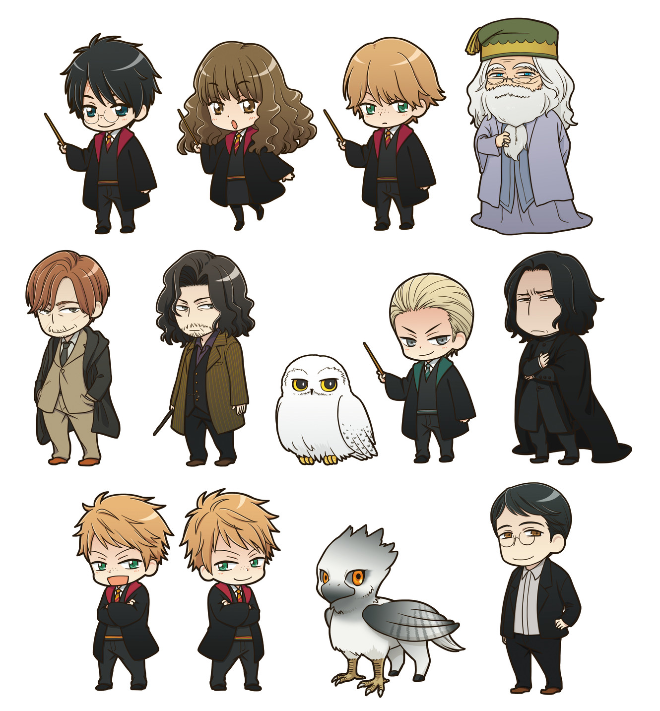 personagens de harry potter ganham adoravel versao kawaii o profeta diario personagens de harry potter ganham