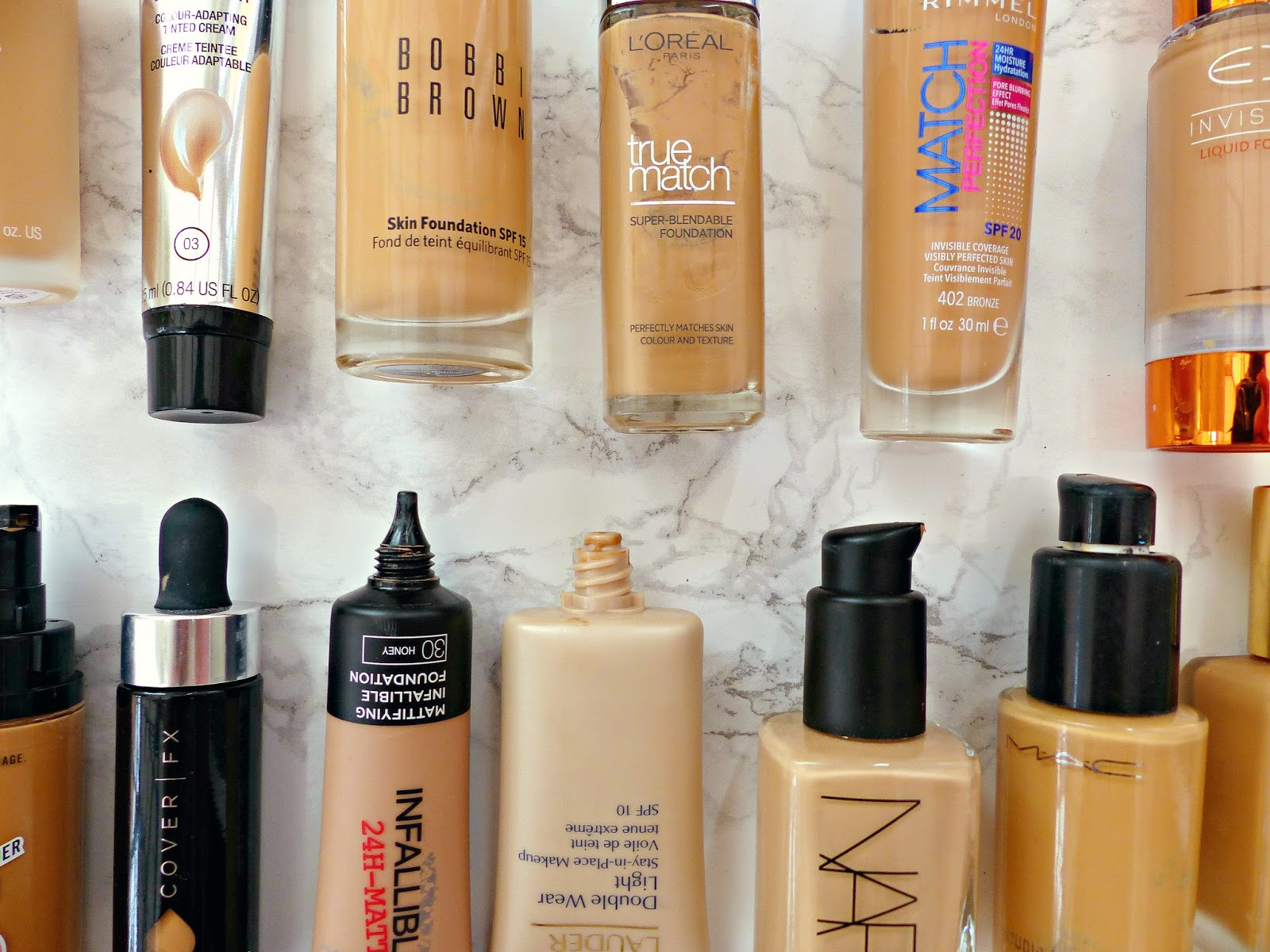 The foundation guide inside my stash with comparisons  swatches also rh jasminetalksbeauty