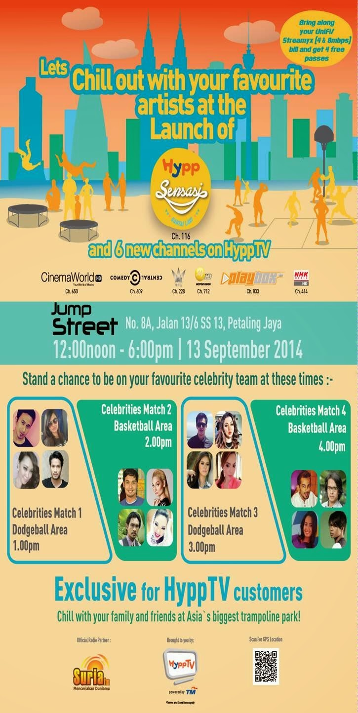 Come To JumpStreet, PJ For The Launch Of 7 New Channels On HyppTV!