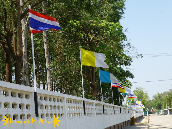 Flags in Ayutthaya Historical Park
